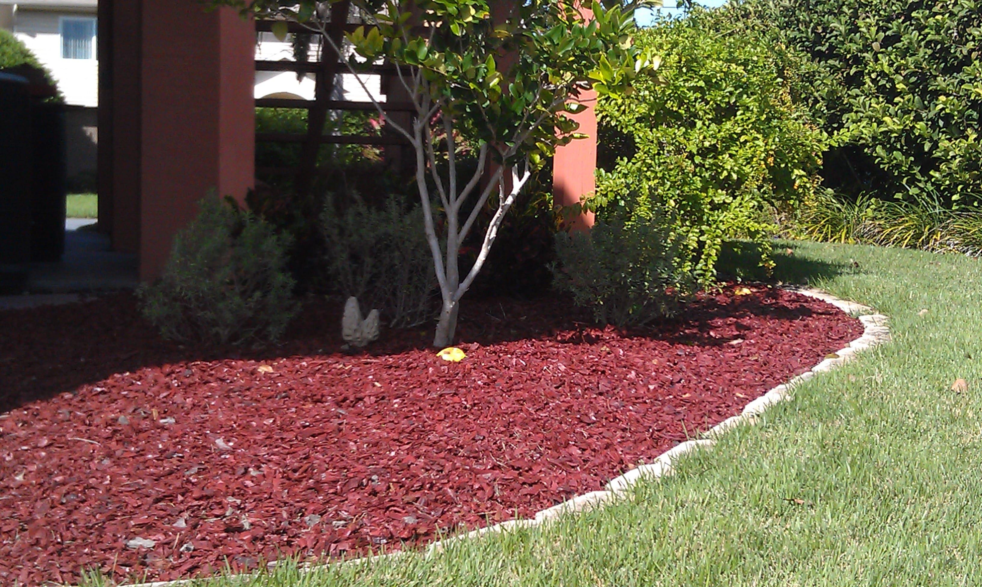 Red Mulch Sids Ponds